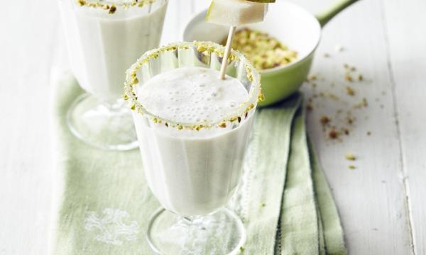 Milkshake van peer en pistache